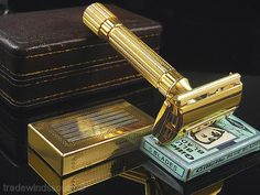 Vintage Gillette Aristocrat Shaving Safety Razor Set w Case Box Blades   eBay
