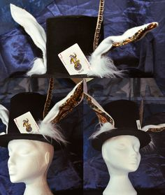 March Hare Mad Hatter Top Hat by *TrafficConeCreations on deviantART