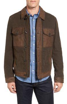 TIMBERLAND Mount Davis Mixed Media Waxed Cotton Jacket. #timberland #cloth #