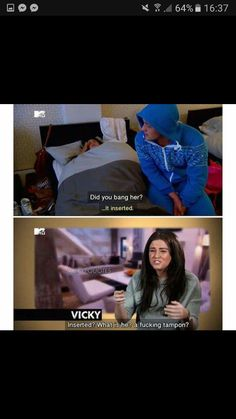 Hahahahaha i absolutely love vicky Geordie Shore Quotes, Mtv Tv, Vicky Pattison, Films, Movies, Unicorns, I Laughed, Attitude, Therapy