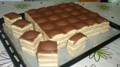 Piškótové Tango rezy s pudingovým krémom! Healthy Diet Recipes, Healthy Sweets, Cooking Recipes, Czech Desserts, Cookie Desserts, Czech Recipes, Hungarian Recipes, Slovak Recipes, Sweet Cookies