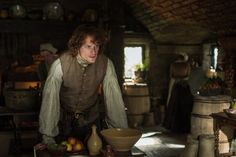 Still of Sam Heughan and Steven Cree in Outlander (2014)
