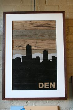 Salvaged Wood Denver Skyline by RiverCitySalvage on Etsy, $150.00