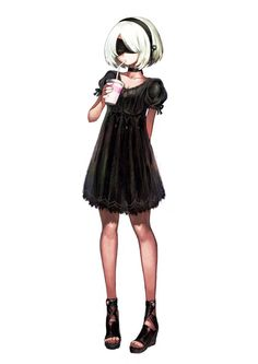 Your Anime Fix - Casual [Nier:Automata]. Game Character, Character Concept, Character Design, Female Characters, Anime Characters, Nier Automata A2, Drakengard Nier, Art Girl, Cute Girls