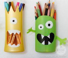 Plastic Shampoo Bottle Pencil Holders
