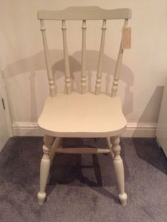 Shabby Chic chair - hand painted Farrow & Ball - Old White