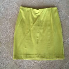 Lime green Ann Taylor skirt - size 2 Lime green Ann Taylor skirt - size 2. Fun, bright color! Ann Taylor Skirts