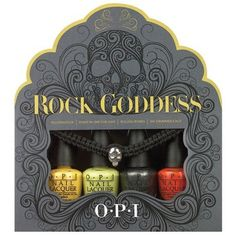 The amazing OPI Rock Goddess Halloween 2013 nail polish collection is already available at ULTRA and online. Halloween Rocks, Halloween 2013, Halloween Gifts, Halloween Nails, Halloween Designs, Halloween Goodies, Halloween Ideas, Nail Polish Sets, Opi Nail Polish