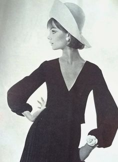 Vogue UK March 1964 Jean Shrimpton photographed by David Bailey in Dior  (Scan thanks to Jane Davis)