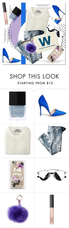 """""""W is for wow/ weekend/wtf"""" by nastya-d ❤ liked on Polyvore featuring Butter London, Gianvito Rossi, Acne Studios, Casetify, RAJ, NARS Cosmetics, women's clothing, women, female and woman"""