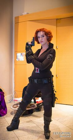 I know this is suppose to be a cosplay of the Black Widow. But to me she is cosplaying as Scarlett Johansson -Dragon*con 2012