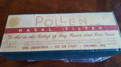 Check out this item in my Etsy shop https://www.etsy.com/listing/454466446/1940s-rowe-adjustable-pollen-nasal