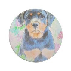 #Rottweiler Puppy Drink Coaster - #rottweiler #puppy #rottweilers #dog #dogs #pet #pets #cute