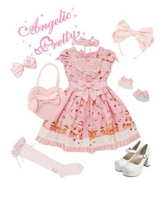 """""""Country of Sweets"""" by sweetpasteldream ❤ liked on Polyvore featuring country, SweetLolita and angelicpretty"""