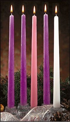 Advent Taper Five Candle Set
