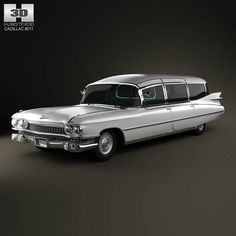 Cadillac Fleetwood 75 Miller-Meteor Hearse 1959 3d model from humster3d.com. Price: $75