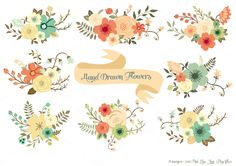 Hand Drawn Flowers by Delagrafica on Creative Market