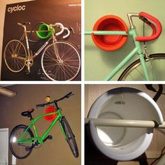 Bought two of these for the condo. I highly recommend them if you're tight on space and have an appropriate room to have bikes as decor. Order them at yliving.com