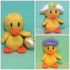 KNITTING PATTERN - Easter Chick chocolate cover fits Ferrero Rocher in Crafts, Crocheting & Knitting, Patterns | eBay