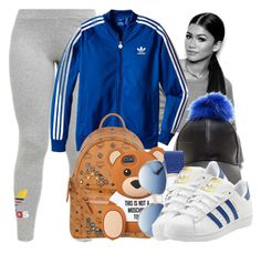 """Untitled #880"" by lover-185 ❤ liked on Polyvore featuring adidas Originals, MCM and Christian Dior"