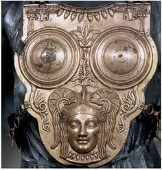 This brass Carthaginian breastplate dates to around the third century BCE, the period when Carthage was at war with Rome.