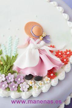 Cupcakes Decoration Flowers Fondant Decorating Ideas 70 Ideas For 2019 Fondant Toppers, Fondant Cakes, Cupcake Cakes, Cake Decorating Techniques, Cake Decorating Tips, Decors Pate A Sucre, Fondant Flowers, Fondant Figures, Cake Tutorial