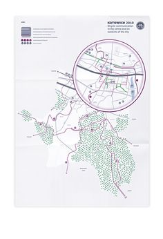 Bicycle Routes on Behance