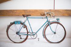 Found Vintage Rentals | #vintage #bicycle #blue #leather #studio #event #decor #retail #display #rentals #specialty