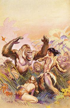 Korak, Son of Tarzan Art  by Frazetta