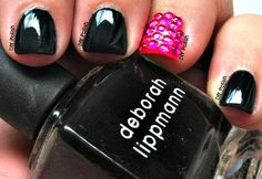 DIY Polish & More!: Deborah Lippmann's Edge of Glory and China Glaze's Pool Party with Rhinestones!