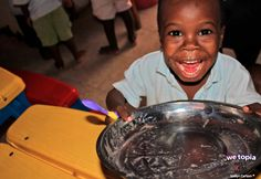 It's safe to say that Kenny (Age 3) loves the meals that Joy is providing.  Joy given in WeTopia is filling bellies!