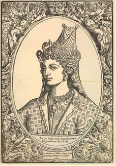 An engraving of Hürrem Sultan, Roxelana Portrait Photos, Portraits, Empire Ottoman, Women In History, British Museum, Ottomans, Queen, 16th Century, Vintage World Maps