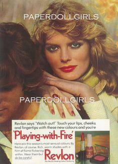 Revlon Vogue UK 1978 Magazine  Jerry Hall Cover