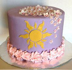 The Cake Market: Tangled Cake - Birthday Cake Vanilla Ideen Bolo Rapunzel, Rapunzel Birthday Cake, Tangled Birthday Party, 18th Birthday Party, Disney Birthday, Rapunzel Cake Ideas, Disney Cakes, Disney Desserts, Party Desserts