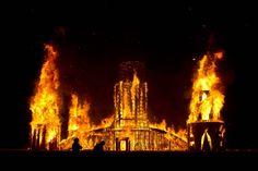 temple burning