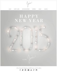 HAPPY NEW YEAR 2015 LOVE, JOIE
