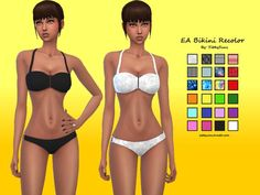 YibbySims' Solid and Patterend Bikini