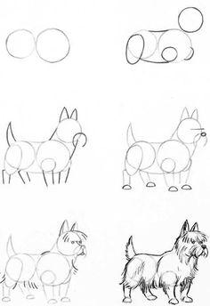 Manera de dibujar un perro.