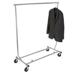 Heavy Duty Salesman's Rack - Collapsible Garment Rack - Round Tubing /Chrome, 2015 Amazon Top Rated Garment Racks #Home