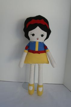 Snow White Doll Soft Doll Rag Doll Princess Doll by OhSewCuteByMel, $72.00