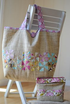 The Sophie Beach Bag PDF sewing pattern available at Fairytale Frocks & Lollipops. Great for carrying your beach towels, sun tan lotion, magazines, camera. Quilted Handbags, Quilted Bag, Bag Pattern Free, Patchwork Bags, Crazy Patchwork, Denim Bag, Fabric Bags, Knitted Bags, Pdf Sewing Patterns