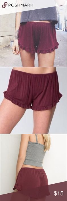 Brandy Melville Maroon Vodi Shorts Brandy Melville Maroon Vodi Shorts, only selling cuz I wear other colors more, great condition, really comfy, $15 Brandy Melville Shorts