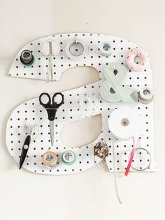 DIY letter pin board...