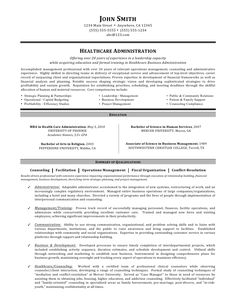 administration resume example