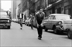 Skateboarding teens of New York, 1960s.