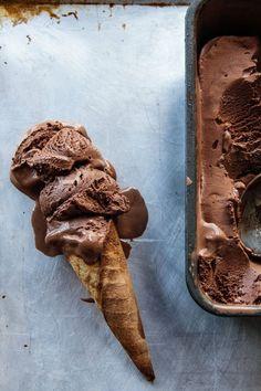 The Darkest Chocolate Ice Cream. #desserts #summer