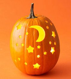 Moon & Stars Pumpkin | Better Homes & Gardens