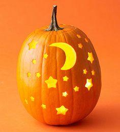 Moon & Stars Pumpkin | Better Homes & Gardens