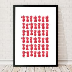 Moka Express Coffee Pot Print in Firetruck Red by LuWestStudio on Etsy