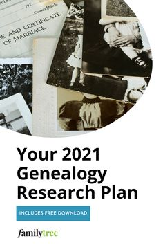 Achieve your genealogy goals with this year-long research plan. Follow the monthly prompts, or simply choose what tasks inspire you most and get started!